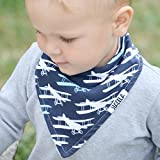 "Stadela Baby Bandana Drool Bibs for Drooling and Teething 4 Pack Gift Set for Boys ""Fly Away set"""