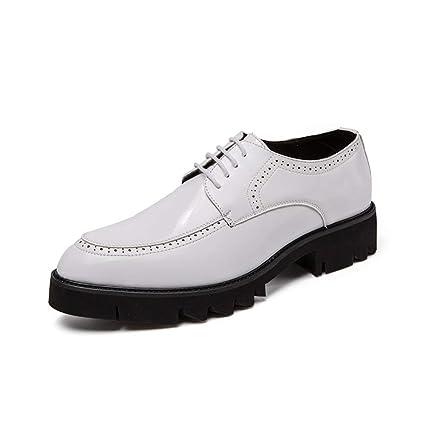 Fang-shoes, 2018 Zapatos Hombre, Zapatos Formales de Charol de Suela Oxford con