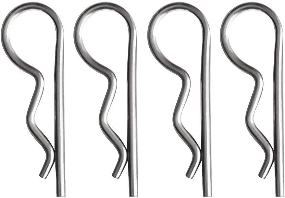 Carbon Steel Retaining Hair Pins Cotter Spring Hitch Cotter Pin Wire Hair Pins Magiin 4 Pack Stainless//Carbon Steel R Clips