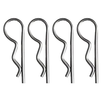 1, 3mm Quick Removal Spring Cotter Pins Metric Sizes Marine Grade 316 Stainless Steel R-Clips