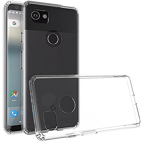 Google Pixel 2 XL Case, Asstar Slim Fit Anti-Scratch Clear PC Back TPU Bumper Shock Absorption Scratch Resistant Protective Cover for Google Pixel 2 XL (Clear)