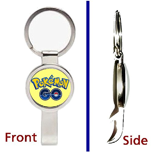 Pokemon Go Pennant or Keychain Silver Tone Secret Bottle Opener