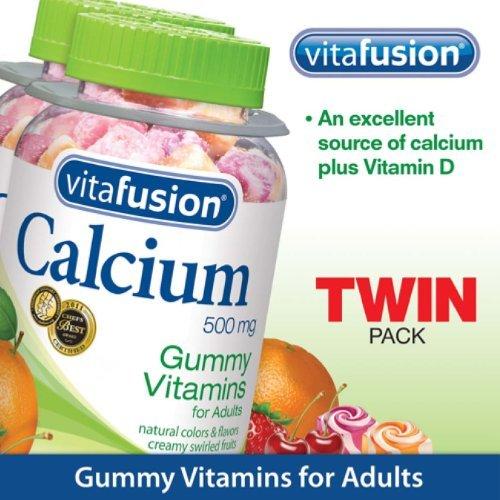 Calcium Gummy vitamines pour adultes, deux bouteilles: 100 comte par bouteille