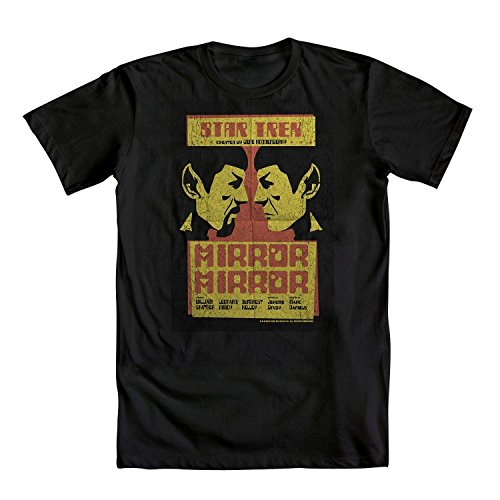 Star Trek Spock Mirror Mirror Mens Black T-Shirt | XL