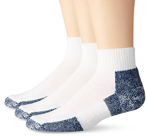 Thorlos Unisex JMX Running Thick Padded Ankle Sock, White (3 Pack), Large
