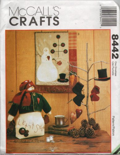 McCall's Crafts Pattern 8442 - Snowman, Quilt and Ornaments (Pattern Snowman Quilt)