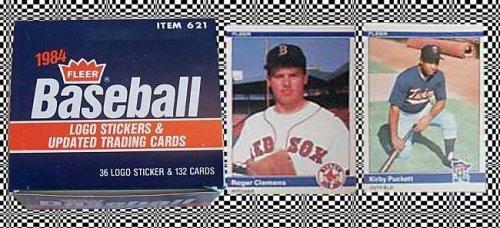 (1984 Fleer Update Baseball Card Set Item 621, with Roger Clemens Rookie Card)