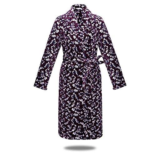 DMMSS Frauen Badem?ntel dicker Abschnitt Nachthemd Home Kleidung Flanellpyjamas