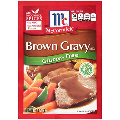 McCormick Gluten Free Brown Gravy Mix, 0.88 Ounce, Pack of 12 ( Packaging May Vary )