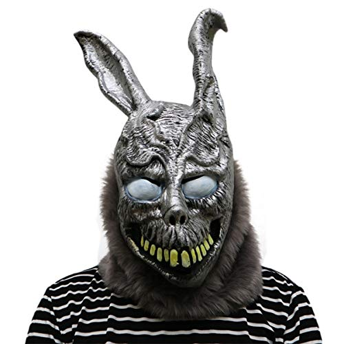 Donnie Darko Frank The Bunny Mask Scary Animal Rabbit Latex Mask Cosplay Costume Halloween Props]()