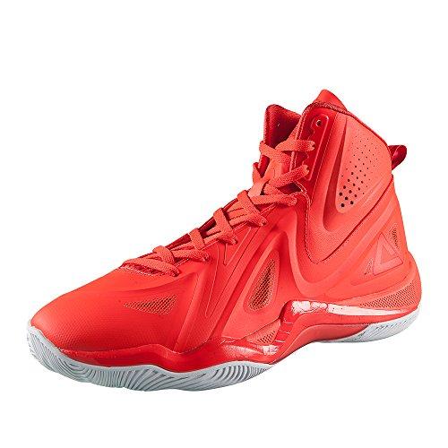 Peak Mens Challenger II High-Top Basketball Shoes Ruby