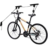 Hanging Bike Rack | Super Space-Saving Mounted Bicycle Ceiling Hoist Rack with 3 Pulley and 32ft Adjustable Rope | Excellent 100lb Max Load for Garage Hanger and Storage | 1294