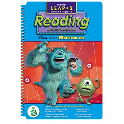 """LeapPad: Leap 2 Reading - """"Disney / Pixar Monsters Inc."""" Interactive Book and Cartridge: Toys & Games"""