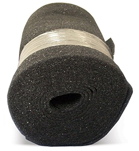 Duraflow Filtration FSR22525 Air Filter Foam Roll Media, 24'' x 25' x 1/4'', Dark Gray by Duraflow Filtration