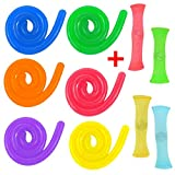 6 Stretchy Fidgets + 4 Mesh Marble Toys Pack Unique Calming Relax Toys Pack ...