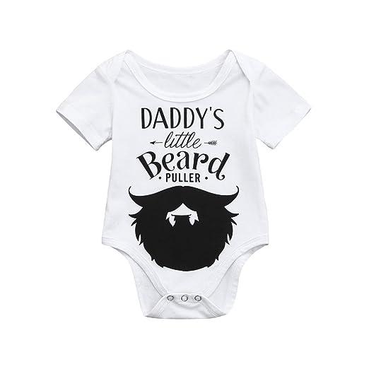 9dc7a304a Amazon.com  Staron Cute Newborn Baby Romper Clothes Daddys Little ...
