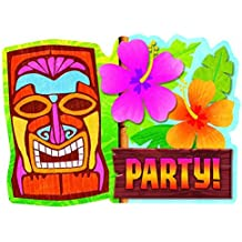 """Amscan Sun-sational Luau Party Tiki Invitations Value Pack, Paper, 4"""" x 6"""", Pack of 20"""