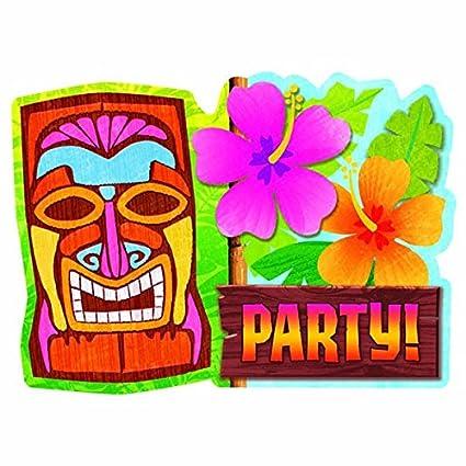 amazon com sun sational luau party tiki invitations value pack