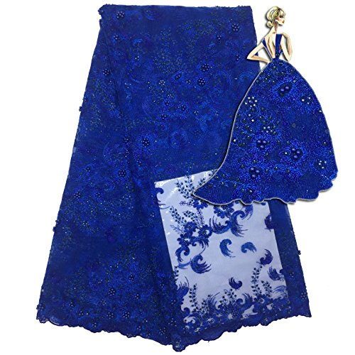 B&Y Fashion Embroidery African Bridal French Lace Fabric Nigerian Party Tulle French Lace Fabric 2017 Soft Embroidery Laces