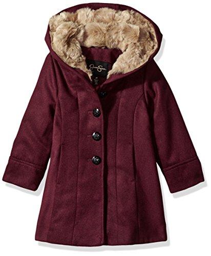 (Jessica Simpson Girls' Dress Coat Jacket with Cozy)