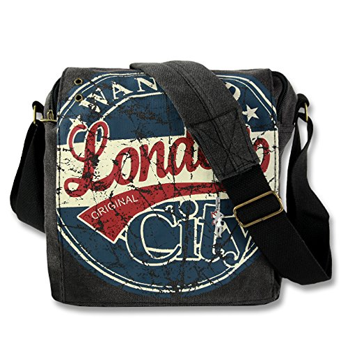 wanted ueberschlagtasche tela rot Ruth Grigio Alex Big canvas di o Style Scuro Grigio blau London 23x23x8 Robin EOw0fZqn