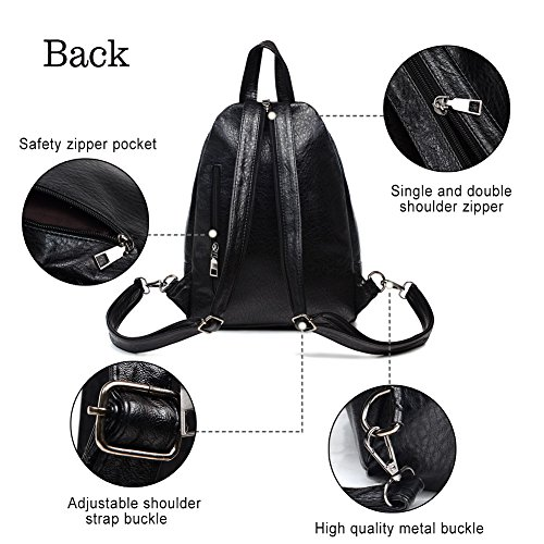 Sling Backpack Leather Convertible Purse Small Shoulder Bag for Women by Vintga (Image #3)