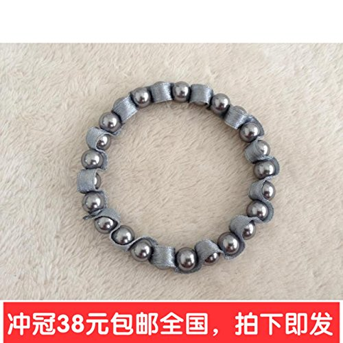 Pearl Faux Ribbon Bracelet (s1304 foreign trade jewelry in Europe and America of the original single fashion faux pearl ribbon winding stretch bracelet bracelet men and women)