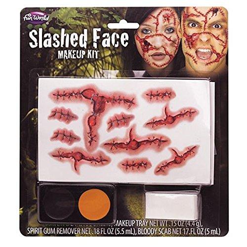 Slashed Face Makeup Kit Costume Accessory -