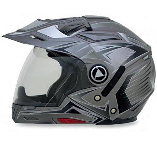 (AFX FX-55 7-In-1 Multi Color Helmet Frost Grey Large 0104-1590)
