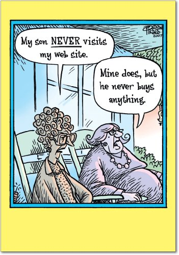 0180 'Never Visit Website' - Funny Mother's Day Greeting Card with 5