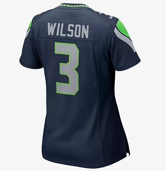 Nike Women s Seattle Seahawks Russell Wilson College Navy Game Jersey ( Medium 3505e6451
