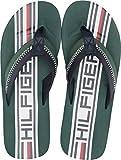 Tommy Hilfiger Men's Daylon Flip-Flop, Green, 12 Medium US