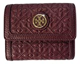Tory Burch Bryant Leather Mini Wallet (Red Agate)