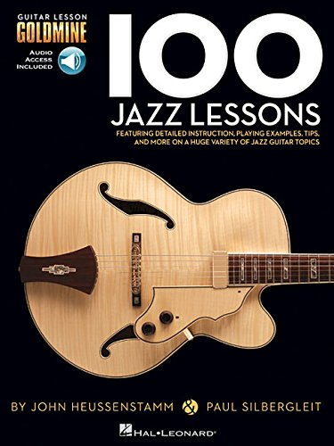 100 jazz lessons guitar lesson goldmine series book online audio. Black Bedroom Furniture Sets. Home Design Ideas