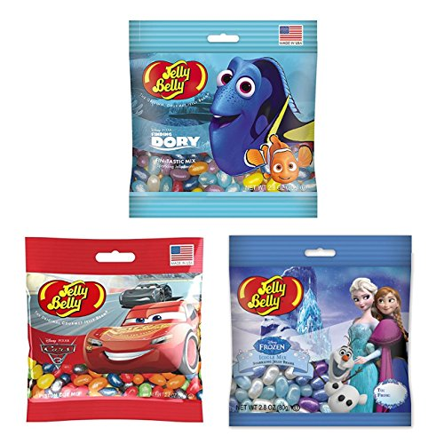Disney Characters by Jelly Belly - 3 pack of 2.8 oz bags