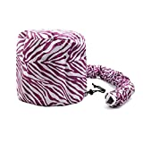 uxcell® Purple White Polyester Portable Hair Drying Styling Soft Bonnet Hood Blow Dryer Connect Cap