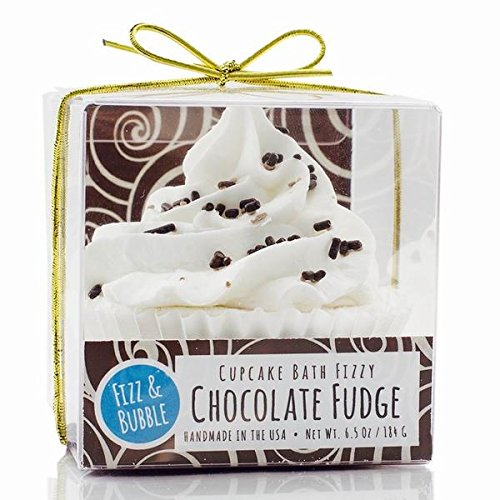 Chocolate Fudge Cupcake Bath Fizzy (Bubble Bath Coconut Frosting)