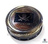 NauticalMart Pirated Brass Pocket Compass Antique