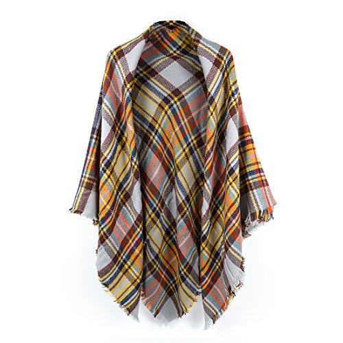 - Women's Cozy Tartan Scarf Wrap Shawl Neck Stole Warm Plaid Checked Pashmina
