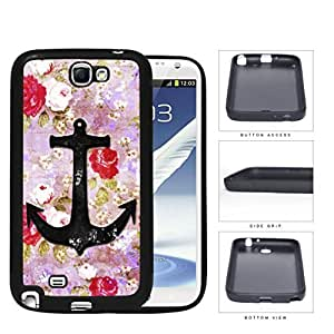 Vintage Roses And Anchor Dirty Grunge Rubber Silicone TPU Cell Phone Case Samsung Galaxy Note 2 II N7100