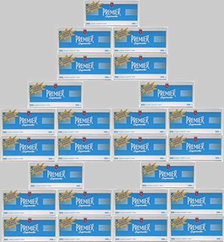(50) Fifty Boxes of Premier Supermatic Light - King Size Cigarette Tubes - FULL CASE! by Premier