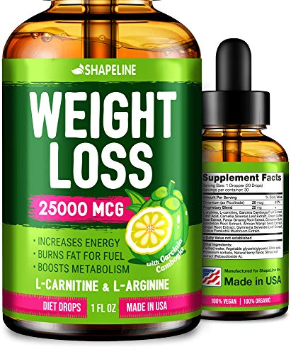 Weight Loss Drops – Appetite Suppressant for Women & Men – Made in The USA – Natural Metabolism Booster – Fast Weight…