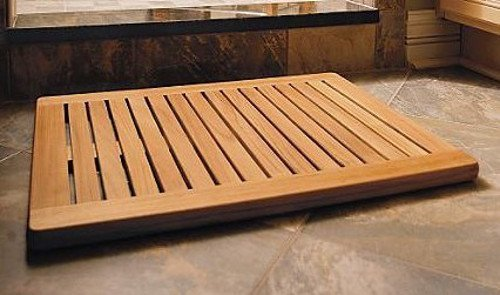 TeakStation Grade-A Teak Wood Rectangular Large 30''x24'' Door / Shower/ Spa / Bath Floor Mat with Rounded Corners