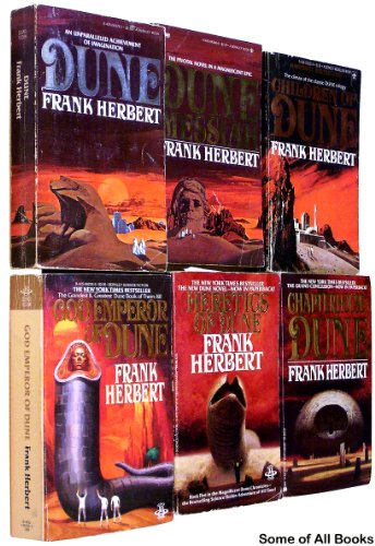 The Dune Collection, Books 1-6. (Set includes -- Dune, Dune Messiah, Children of Dune, God Emperor of Dune, Heretics of Dune, Chapterhouse Dune) Complete Series