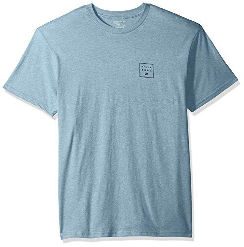 - Billabong Men's Stacked T-Shirt Denim Heather Medium