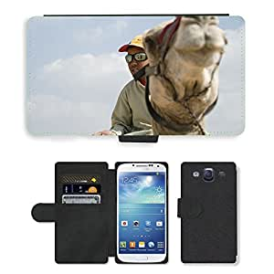 Hot Style Cell Phone Card Slot PU Leather Wallet Case // M00114616 Camel Egypt Africa Reiter // Samsung Galaxy S3 S III SIII i9300