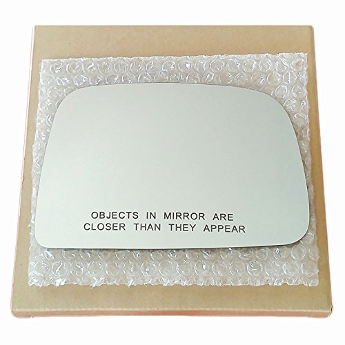 (Mirror Glass and Adhesive 95-00 Toyota Tacoma Pickup Passenger Right Side Replacement - FITS MANUAL MIRRORS ONLY )
