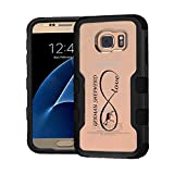 Galaxy S7 Case - Extra Shock-Absorb Clear back panel + Engineered TPU bumper 3 layer protection for Samsung Galaxy S7 (New 2016) Black Cover (Infinity Love German Shepherd Black)