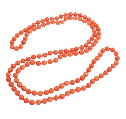 TreasureBay Stunning 3-In-1 Pink Coral Necklace Sweater Chain Necklace