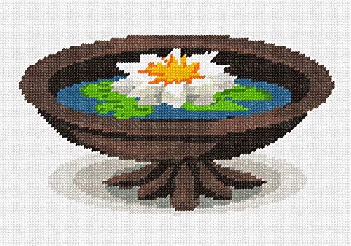 - pepita Water Lily Pot Needlepoint Canvas